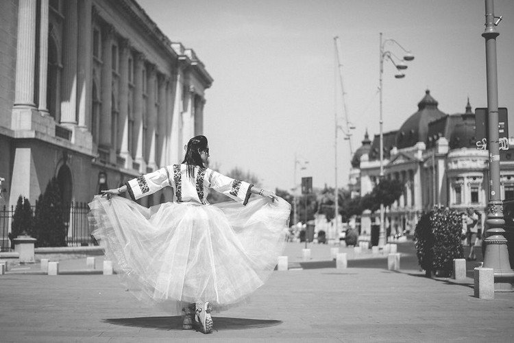 romanian ballerina white dress