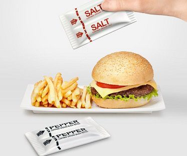 salt and pepper packet style shakers