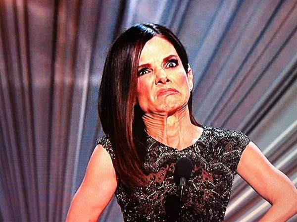 sandra bullock bad face