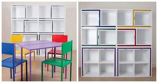 six pieces furniture bookcase