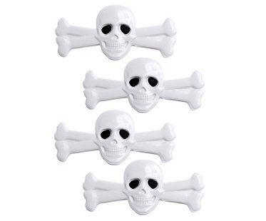 skull and crossbones bag clips white