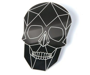 skull wall mirror home