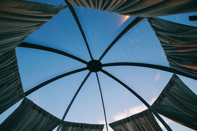sky through dome