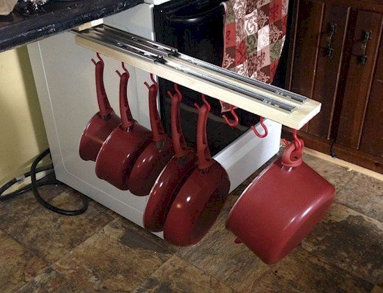 sliding pan rack