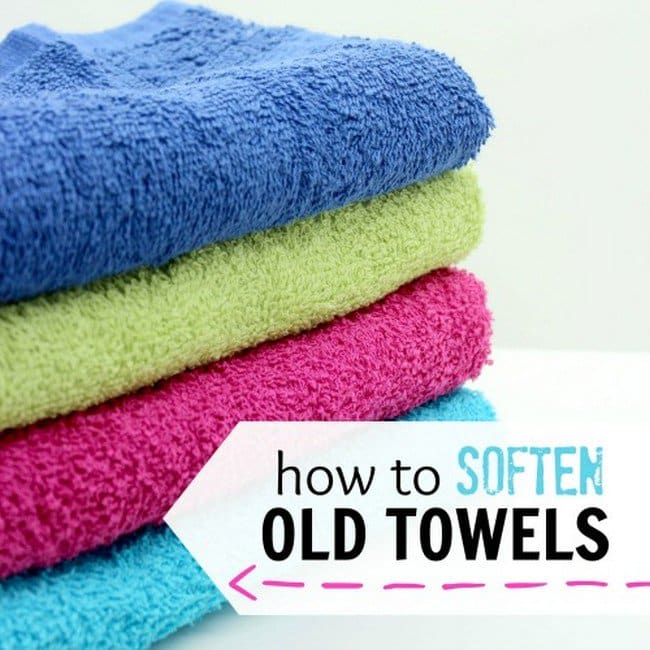 soften old towels