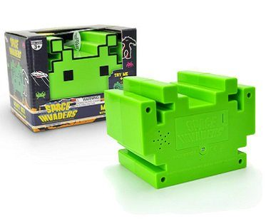 space invaders money box green box