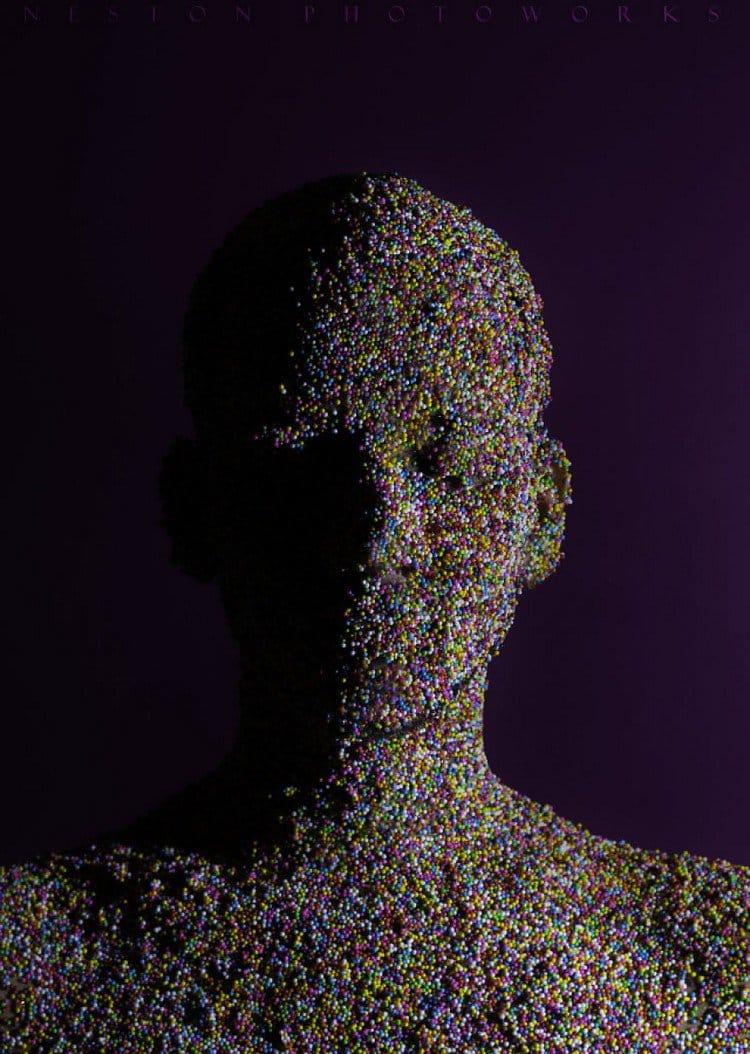 sprinkles face portrait