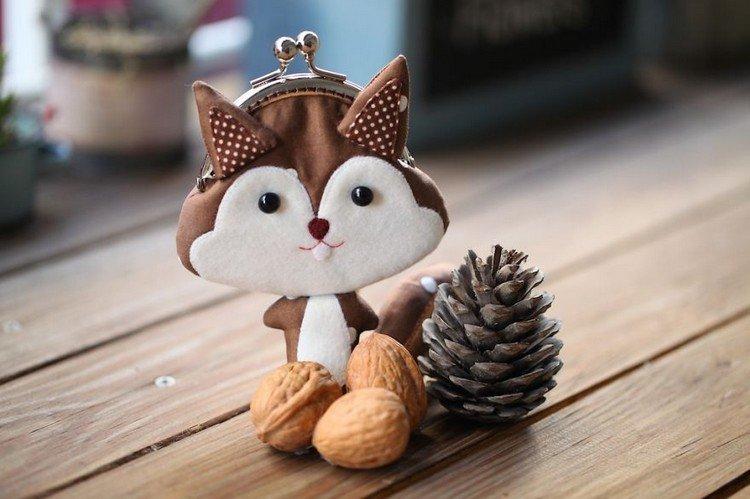 squirrel clutch purse