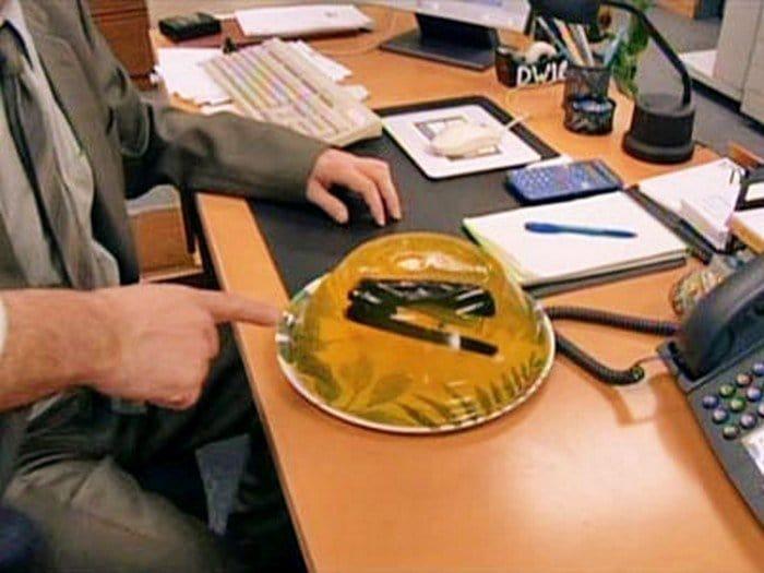 stapler in jello