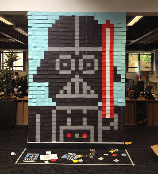 It Took 3579 PostIt Notes To Transform These Boring Office Walls