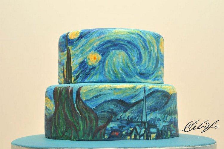 starry night cake
