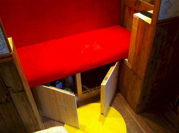 storage under bench