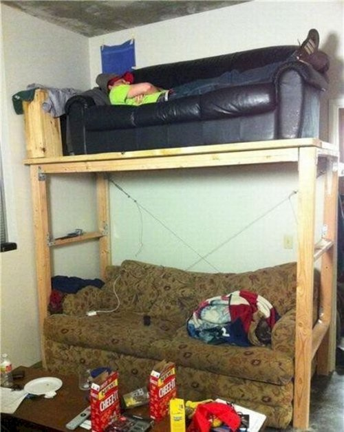 stupid-ways-to-save-money-bunk-couch