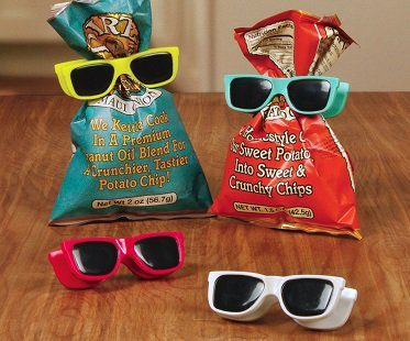 sunglasses chip bag clips