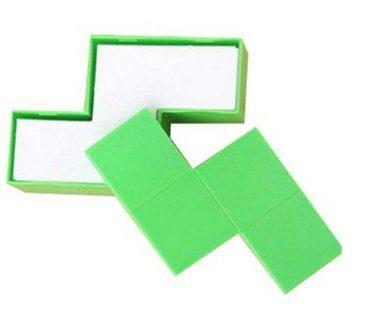 tetris memo pad green