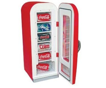 vending machine style fridge cans