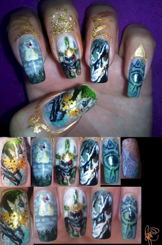 17 awesome examples of video game inspired nail art video game nail art heros shade prinsesfo Gallery