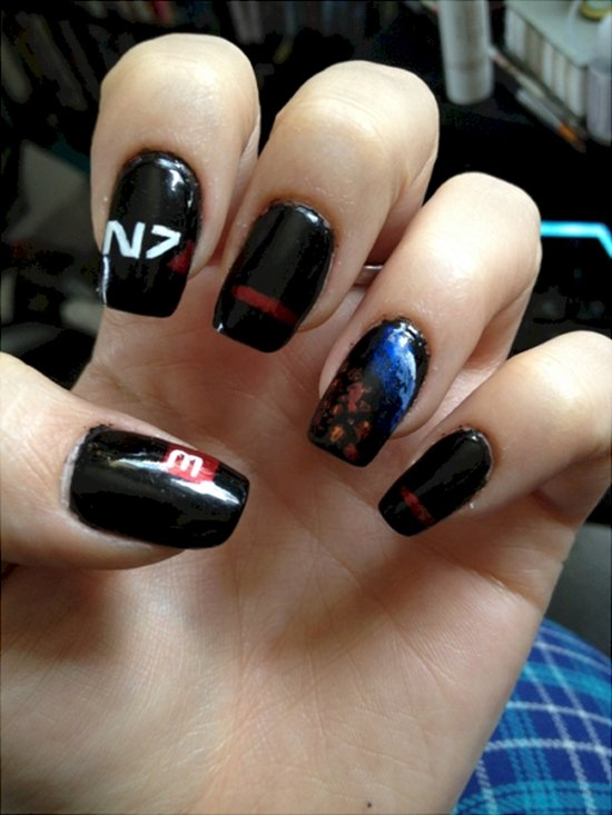17 awesome examples of video game inspired nail art video game nail art iii prinsesfo Images