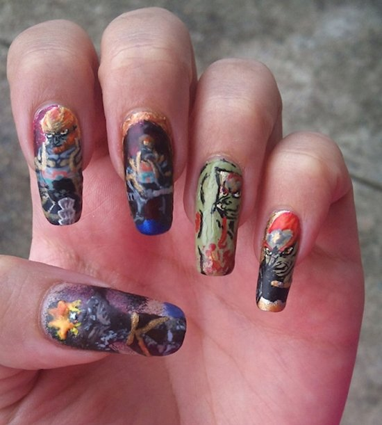 Chocolate Nails Art Game Online Nail Games: 17 Awesome Examples Of Video Game Inspired Nail Art