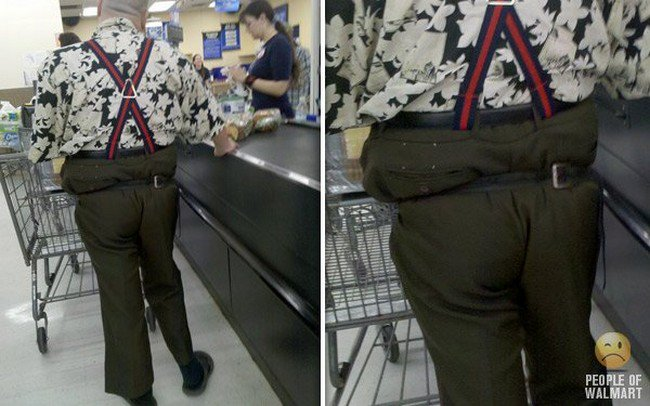 weird belt guy walmart