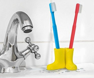 wellies toothbrush holder