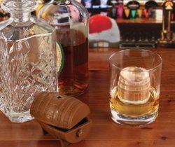 whisky barrel ice cube mold