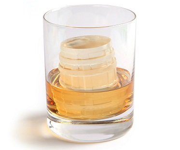 whisky barrel ice cube mold glass