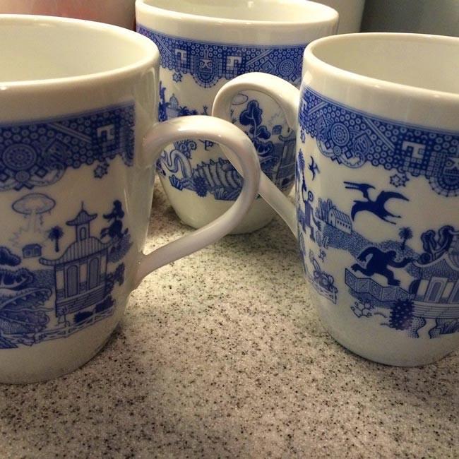 willow-pattern-monster-mugs-group