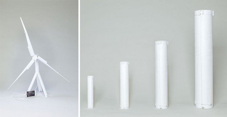 wind turbines collapsible