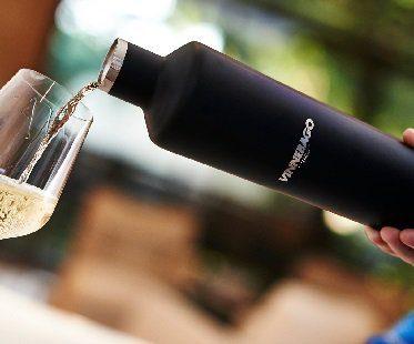 wine bottle flask