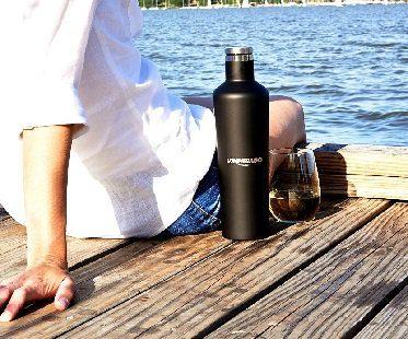 wine bottle flask thermal