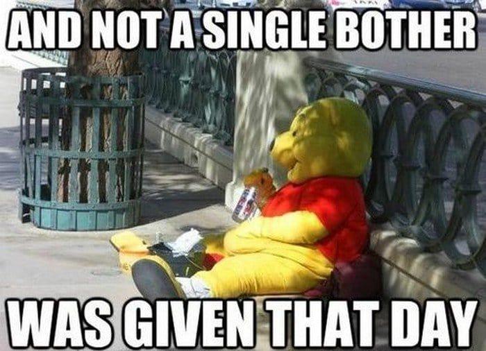 winnie the pooh drinking street