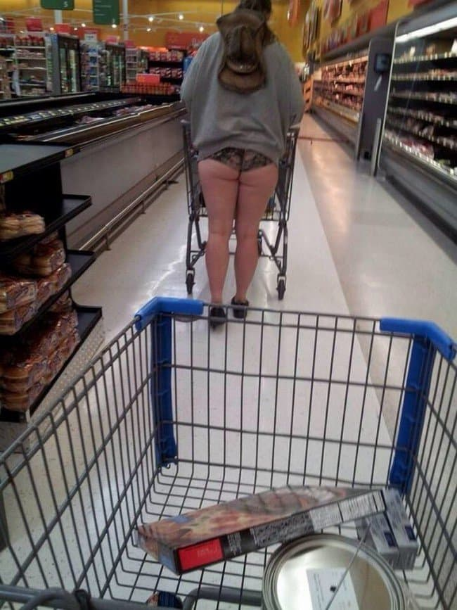 woman buttocks walmart