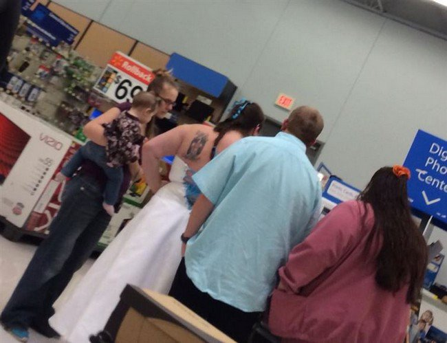 woman wedding dress walmart