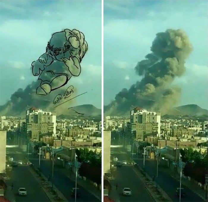 Missile Drawing Yemeni Artists Turn Ex...