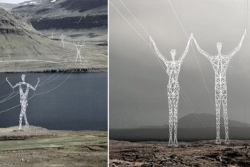 Choi + Shine Electricity Pylons Art
