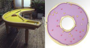 Cleon Daniel Handmade Banana Donut Pool Tables
