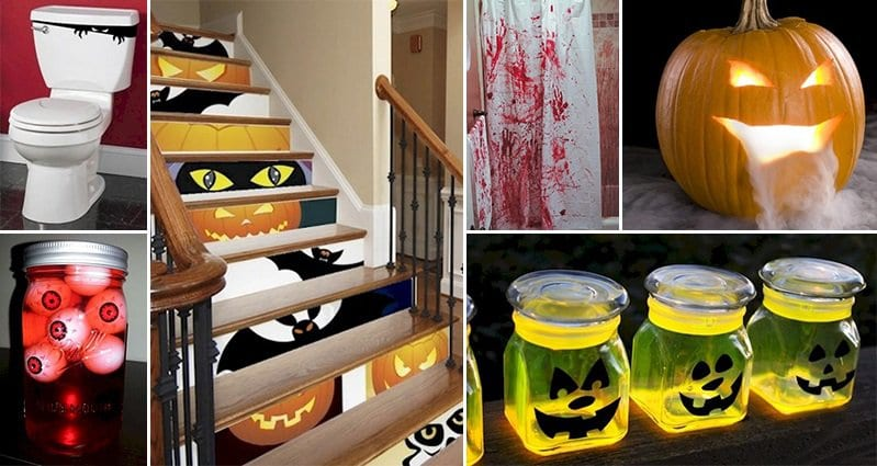16 awesome diy halloween decorations that will terrify your visitors - Homemade Halloween Centerpieces