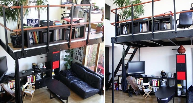 This awesome diy kit allows you to build your own mezzanine for How to build a mezzanine floor in your home