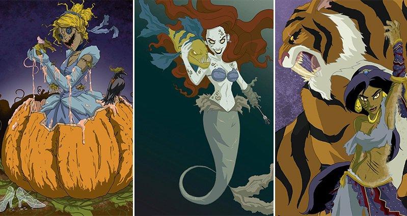 If Disney Princesses Were Dark And Creepy By Jeffrey Thomas