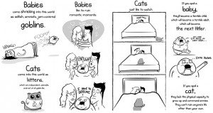 Differences Between Having A Baby And A Cat