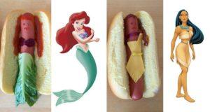 Disney Princesses As Hotdogs