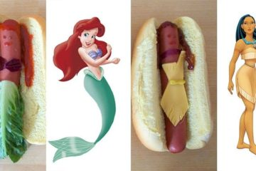 Disney Princesses As Hotdogs