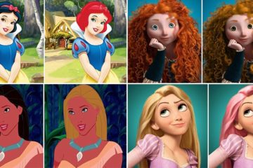 Disney Princesses Hair And Eye Color Makeover