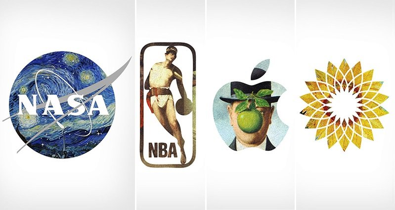 Well Known Logos Combined With Classical Paintings By ...