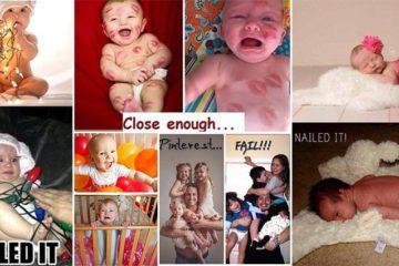 Expectations Vs. Reality Baby Photos