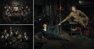 Freddy Fabris Mechanics Recreating Famous Poses