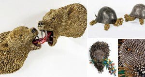 Frederico Uribe Bullet Shells Animal Sculptures