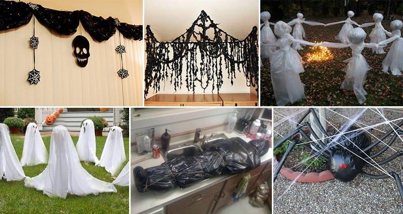 Black Garbage Bag Halloween Decorations.11 Awesome Ways To Turn Garbage Bags Into Halloween Decorations