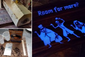 Halloween Glow-In-The-Dark Cutting Board